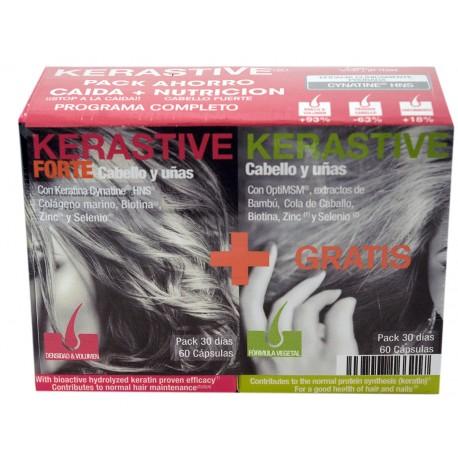 Pack Kerastive Forte Cabello y Uñas + Fórmula Vegetal