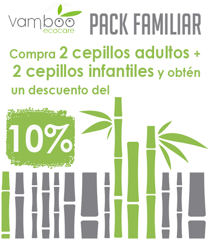 Pack Familiar Cepillos Vamboo